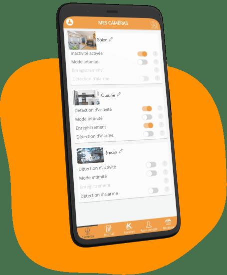 camera surveillance proteger famille application mobile